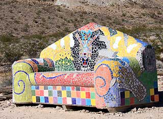 Death Valley - rhyolite, Mosaic couch